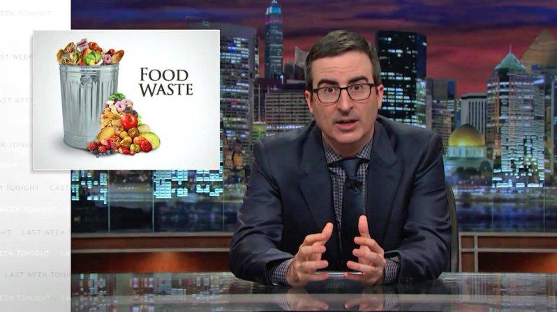 John Oliver food waste