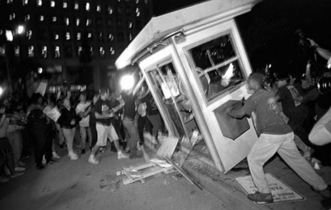 Scene from the 1992 LA riots.